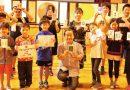山田泰幸さん、母校で消しゴムはんこの特別授業
